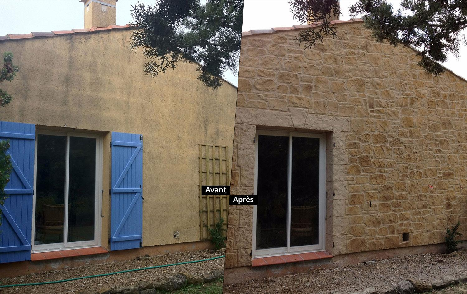 R novation fa ade maison par azur pro renov r novation for Renovation maison ancienne avant apres