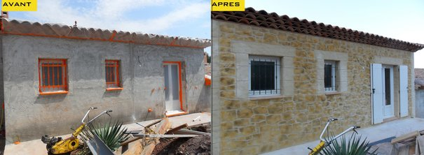 Great r novation fa ade maison var alpes maritimes with for Facade maison originale