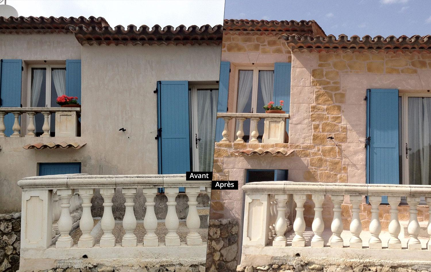 R novation fa ade maison par azur pro renov r novation for Photo de renovation de maison